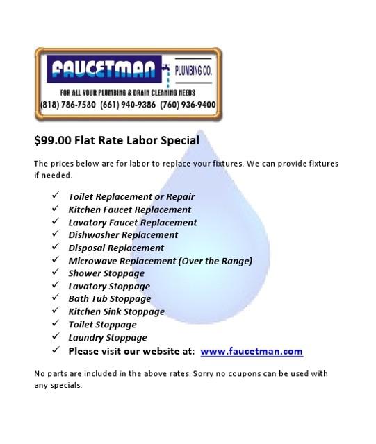 Home Plumbing Repair Drain Cleaning Water Heaters Los Angeles CA. Faucet Repair Los Angeles